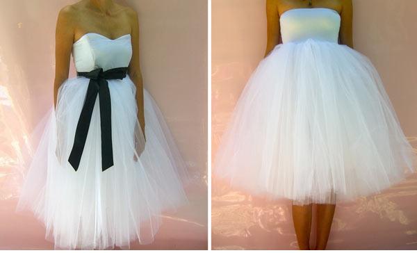 Фото невесты в платье из тюли